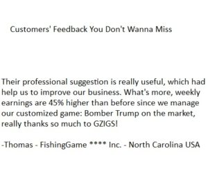 SKILL FISH GAME CUSTOMER FEEDBACK