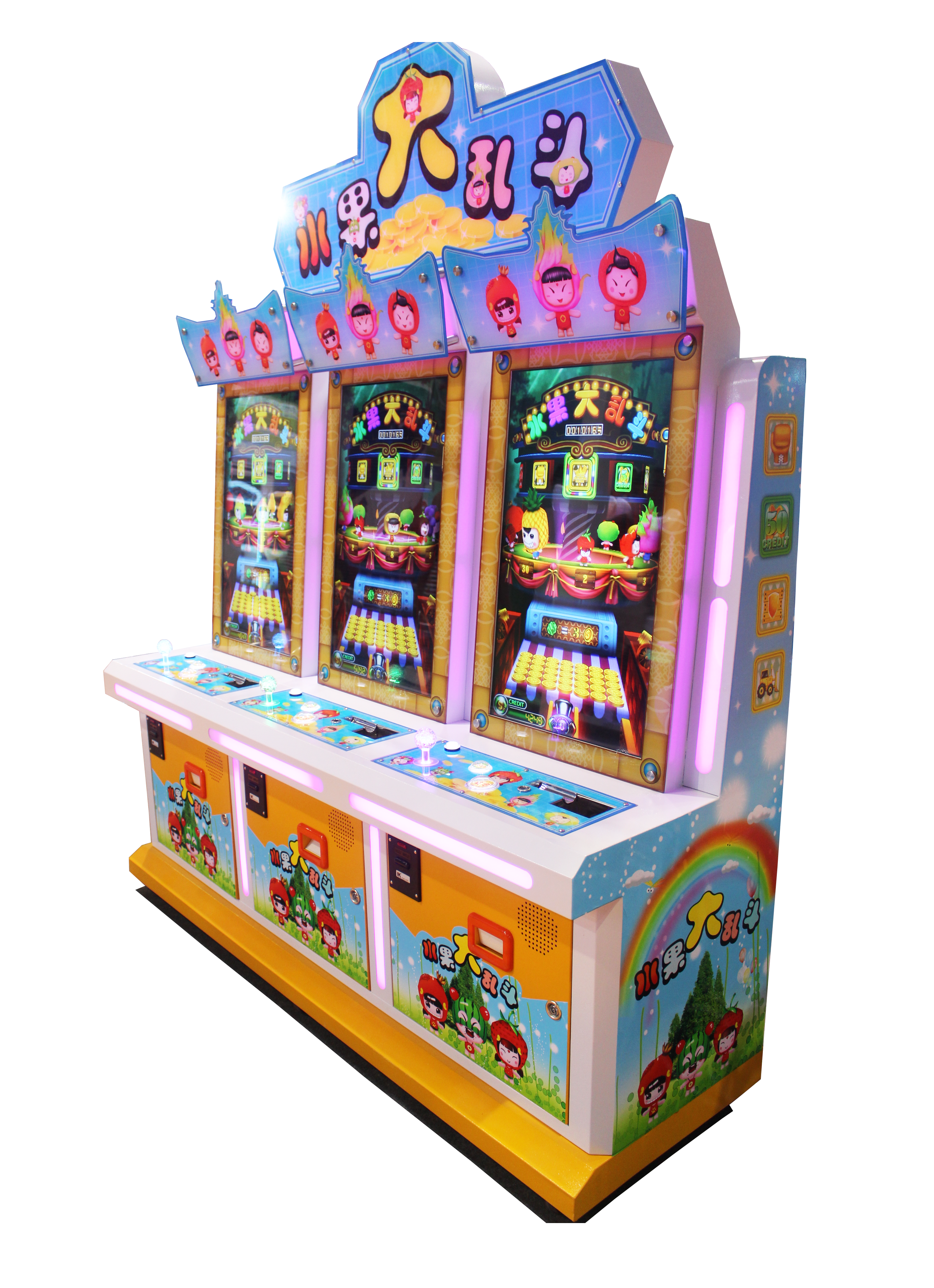 Video Coin Pusher Game Machine-Fruit Go Go Go