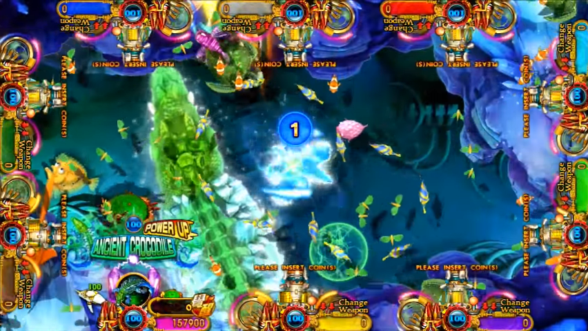 Intelligent Game fish hunter arcade game Ancient Crocodie
