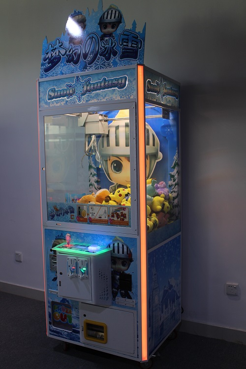 Intelligent Game crane machine Snow Fantasy seen from the side