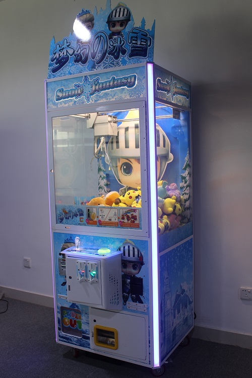 Intelligent Game Arcade Claw Machine Snow Fantasy seen from the side