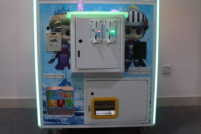 Intelligent Game toy claw machine seen from behind