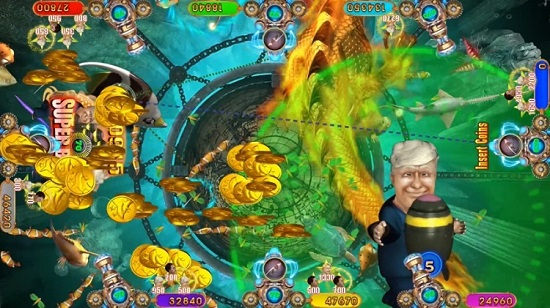 fishing arcade game Bomber Trump