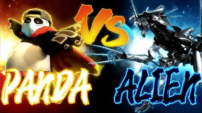 Panda VS Alien